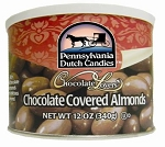 Dutch Treats Chocolate Covered Almonds Made in USA 12oz. Can